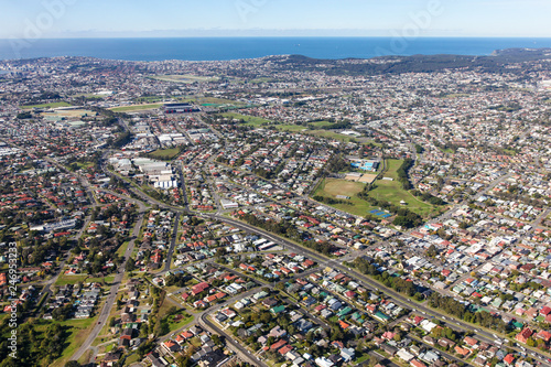 Foto op Plexiglas Oceanië Newcastle NSW australia - Aerial view. NSW second largest city.