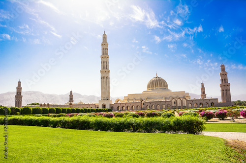 Stampa su Tela Gardens and the Muscat Grand Mosque (Oman)