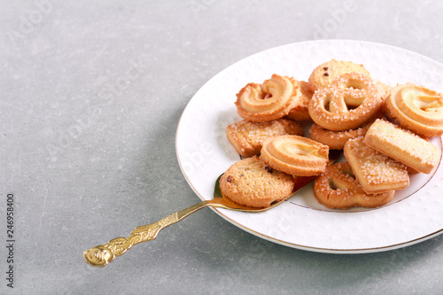 Traditional butter cookies Danish biscuits