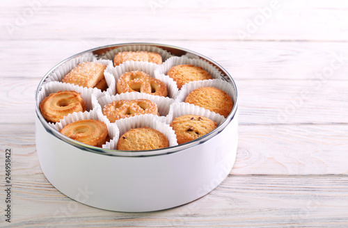 Tin full of butter cookies