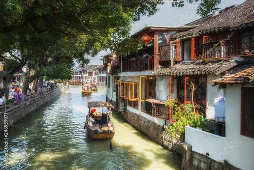 Foto auf AluDibond Shanghai Shanghai Zhujiajiao Ancient water Town. China