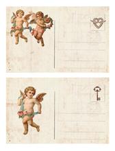 Vintage Valentine Day Card Wit...
