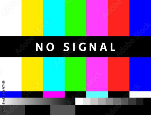 TV no signal background illustration. No signal television screen graphic broadcast design Fototapete