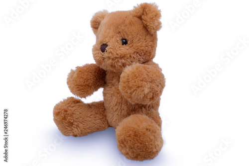 Teddy Bear lift , teddy bear isolated on white background #246974278