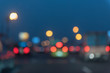 blur image of traffic jam