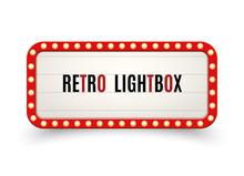 Retro Lightbox Billboard Vinta...
