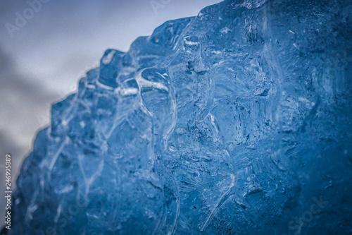 Foto auf Gartenposter Wasser 氷の洞窟の氷壁(アイスランド・ヴァトナヨークトル氷河)
