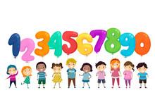 Stickman Kids Balloon Numbers ...