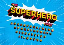 Superhero Comic Style Vector Font