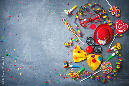 Colorful carnival or birthday background Wallpaper Mural