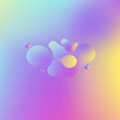 Abstract geometric shapes. Liquid gradient banners isolated on white. Fluid vector background. Gradient geometric banners with flowing liquid shapes. Dynamic Fluid design for logo, flyers or