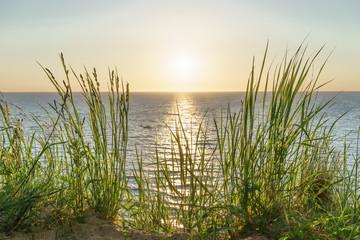 Fototapeta Morze Blick auf das Meer beim Sonnenuntergang