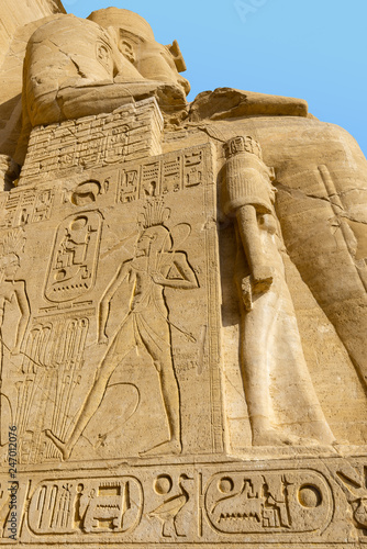 Foto  Entrance of Great Temple of Abu Simbel, Egypt