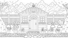 Garden House Coloring