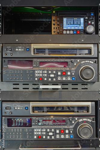 Fotografia, Obraz Old vintage professional digital video tape video tape recorders for live broadc