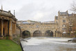 The river Avon in Bath UK and the Pulteney bridge built 1774