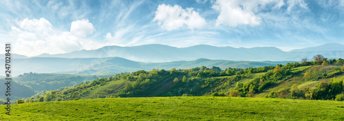 Fotografija panorama of beautiful countryside of romania