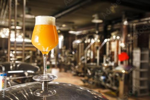 Photo  Hazy IPA beer at the brewery