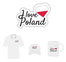 I Love Poland Logo, Flag Heart...
