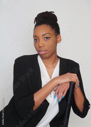 Fotografie, Obraz  Portrait of an attractive female African American model