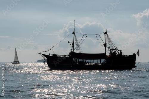 Foto auf AluDibond Schiff Sailboat in Venice Italy