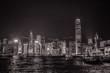 Beautiful Hong Kong Skyline from the Tsim Sha Tsui Promenade during the night