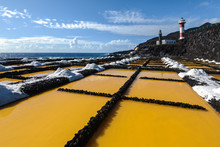 Saltworks And Lighthouse Of Fuencaliente, La Palma, Canary Islands In Spain