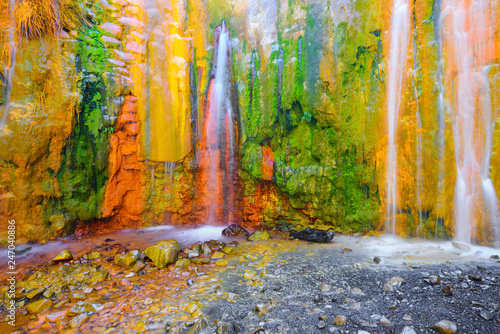 Fototapeta Cascade of Colors at Caldera de Taburiente, La Palma Island, Canary Islands in S