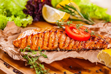 Grilled Salmon With Tomato And...