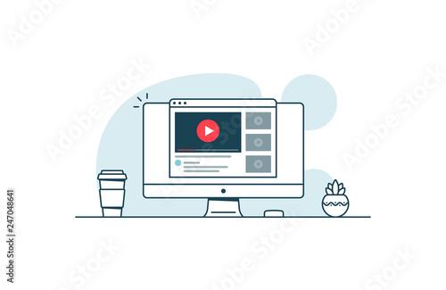Fotografie, Obraz Video service concept