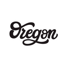 Oregon. Hand Drawn Lettering Text