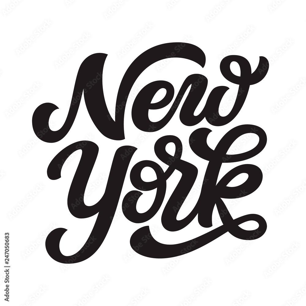 Fototapety, obrazy: New york. Hand drawn lettering text