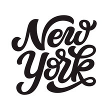 New York. Hand Drawn Lettering...