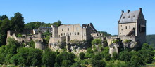 Panoramic View Of Larochette Castle Ruins In Luxembourg