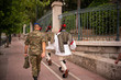 The changing of the guard in Athens, Greece