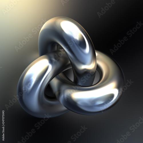 Valokuva  Metallic intricate shape
