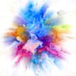 canvas print picture - Globalization of Colorful Paint Splash Explosion
