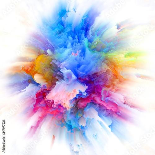 Vászonkép Globalization of Colorful Paint Splash Explosion