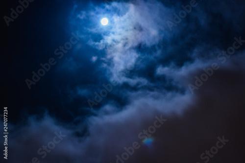 luna, cielo y nubes Wallpaper Mural
