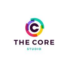 C Letter Logo Core Vector Icon