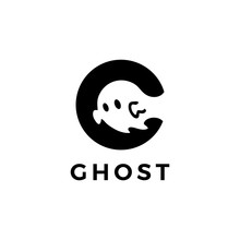 Ghost Logo Vector Icon Illustration
