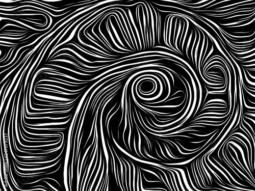Wall Murals Psychedelic Abstract Woodcut Design