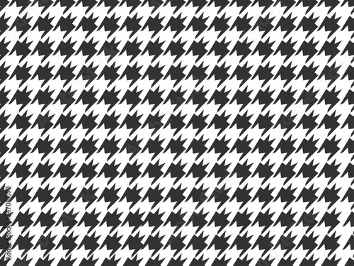 Houndstooth Check Pattern Seamless Background Canvas Print