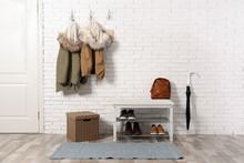 Stylish Hallway Interior With ...