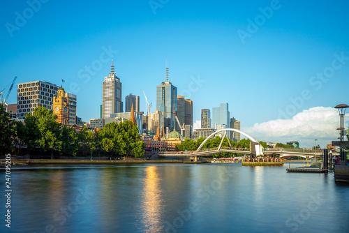 Fototapeta premium Dzielnica biznesowa miasta Melbourne (CBD), Australia