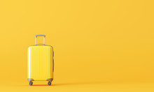 Suitcase On Yellow Background....