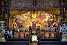 Chinese Sea Goddess Mazu In Temple
