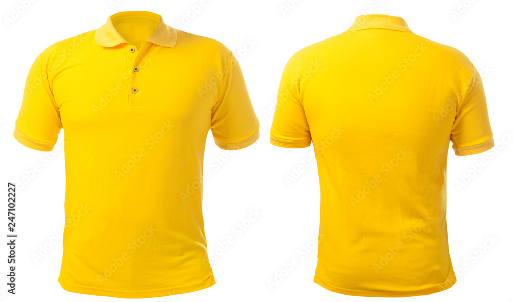 Fototapety, obrazy: Yellow Collared Shirt Design Template