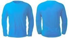Blue Long Sleeved Shirt Design...