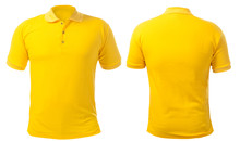 Yellow Collared Shirt Design Template
